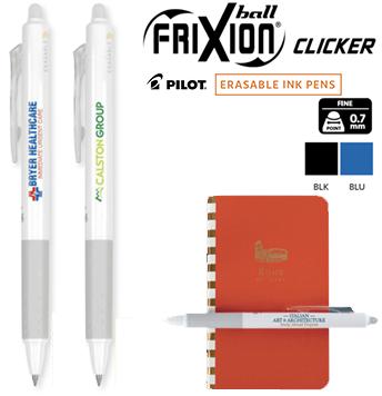 15 Pilot Frixion Ball Pens Erasable  Thermo-Sensitive Black Gel Ink Imprinted