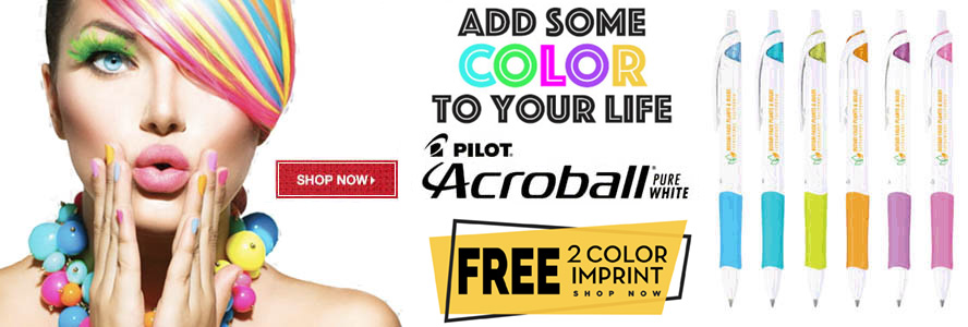 Promotional Pilot Acroball Pens Custom Printed with Logo for Advertising